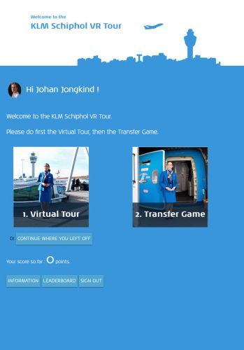 Virtual Tour en Transfer Game