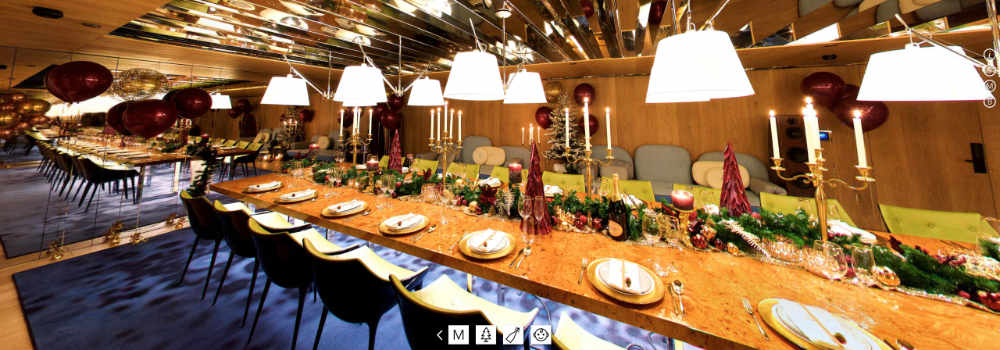 Momo restaurant 360-presentatie - private Dining Room