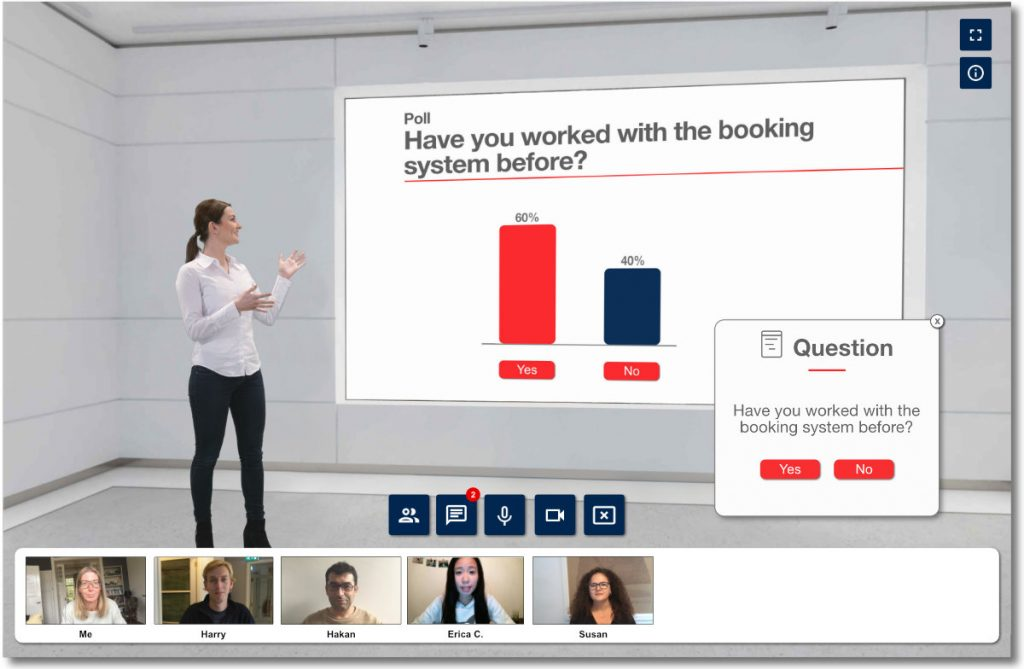 3D Virtual Classroom - extra tools voor interactie met studenten